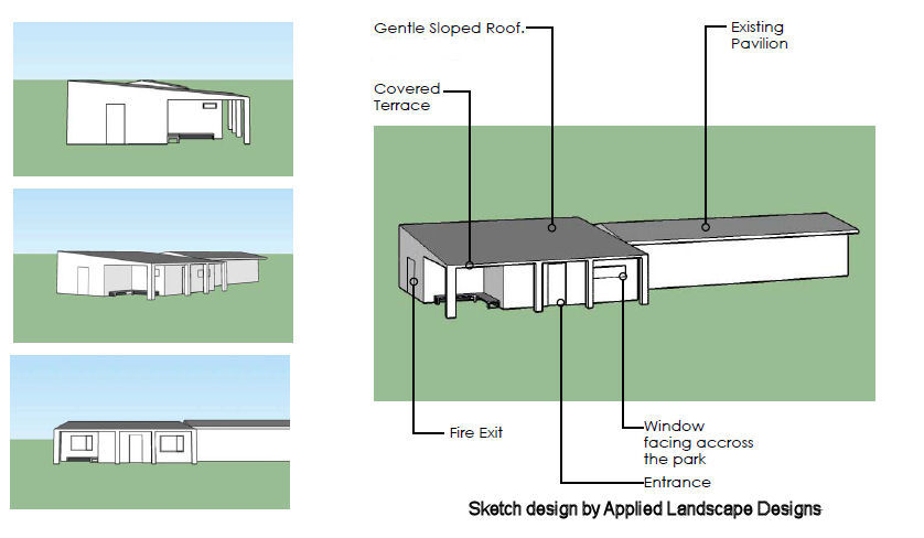 2018 sketch design of community space at QE2 off Shelley Road